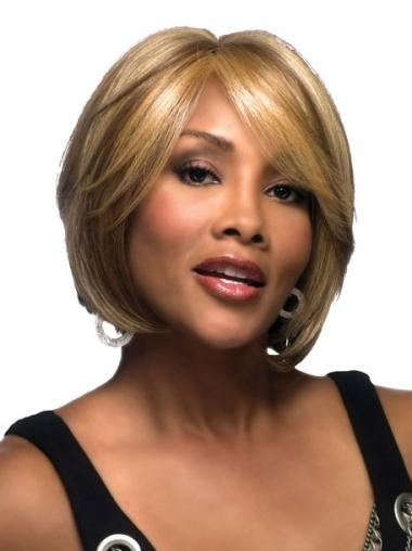 Top Blonde Straight Bobs Black Women Wigs Blonde