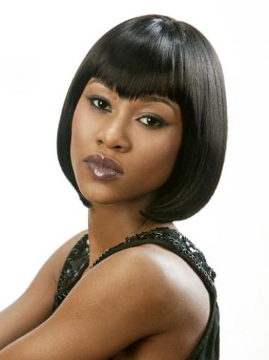 Lace Front Bobs 8 Inches Online Wigs For African American Women Black
