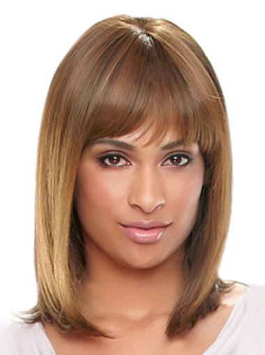 Shoulder Length Synthetic Fabulous African American Auburn Wig