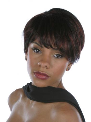 Indian Hair Brown Straight Short Hair For Black Women Wigs