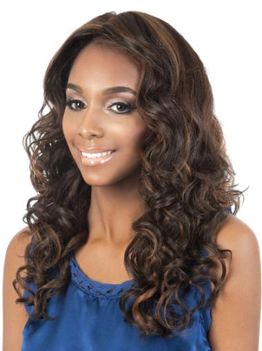 Long Synthetic Without Bangs Fashion Brown Wigs For Black Women