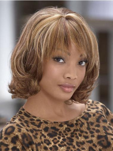 Discount With Bangs Capless Brown Big Curls African American Wigs