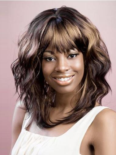 Gorgeous Brown Wavy Layered Brown Wigs Black Women