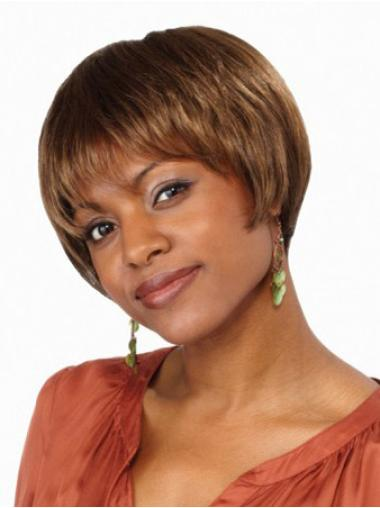 Perfect Brown Short Lace Front African American Wigs Bobs