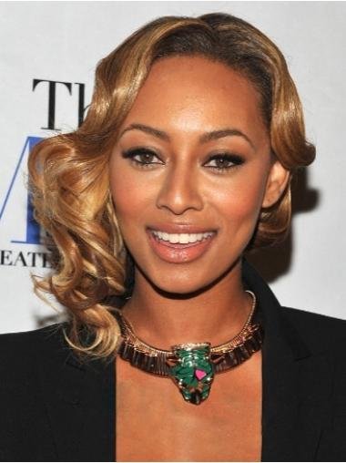 Blonde Lace Front Synthetic Wavy Hair Wigs For Black Women