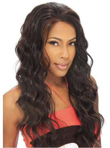 "High Quality 22"" Lace Front Brown Wavy Best Human Hair For Black People"