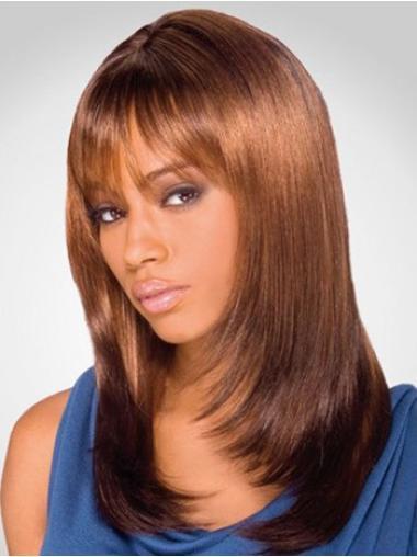 Modern Auburn Yaki Lace Front Wigs African American