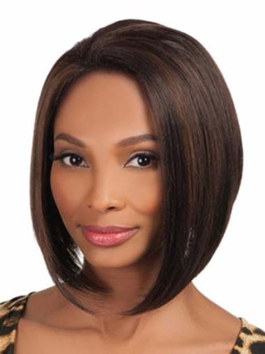 Beautiful Brown African American Womens Wigs Without Bangs
