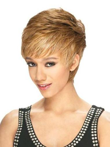 Natural Straight Blonde Synthetic Lace Front Wigs For Black Women