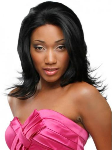 Popular Wavy Black Lace Front Wigs For African American