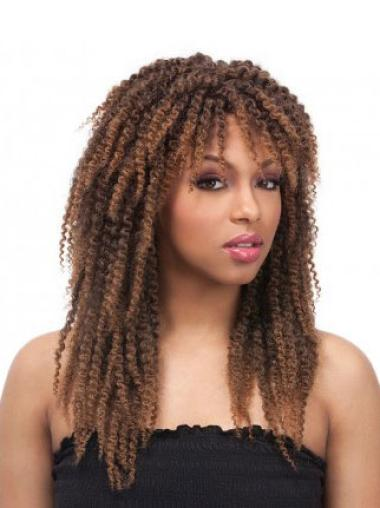 Discount Kinky Brown Synthetic African American Wigs