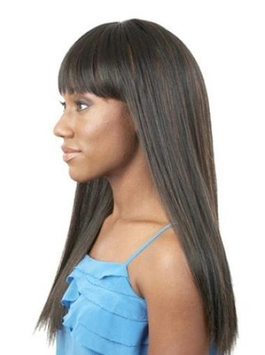 Good Straight Black Synthetic Capless African American Wigs