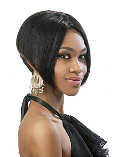 Style Straight Black Synthetic African American Full Lace Wigs