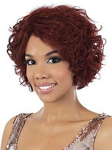 Wavy Red 10 Inches Black Women Wavy Meduim Hair Style Wigs