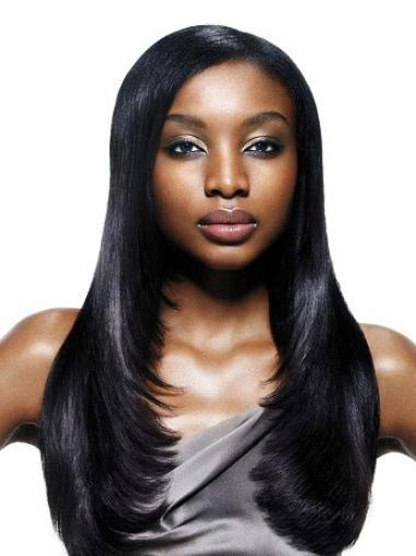 Gorgeous Yaki Black Synthetic African American Capless Wigs