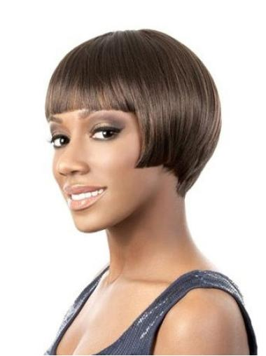 Short Bobs Lace Front African American Human Hair Wigs For Black Ladies