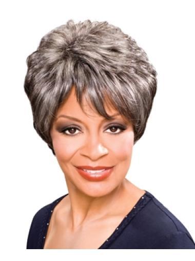 Trendy Wavy Grey Wig For Black Women