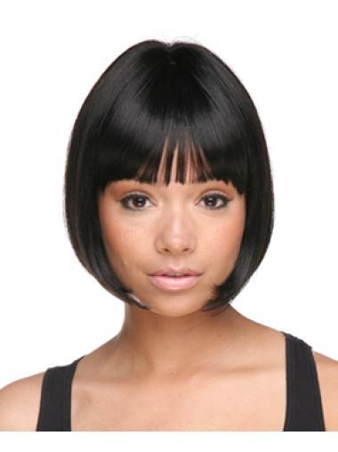 Exquisite Straight Black Bob Wig For Black Women