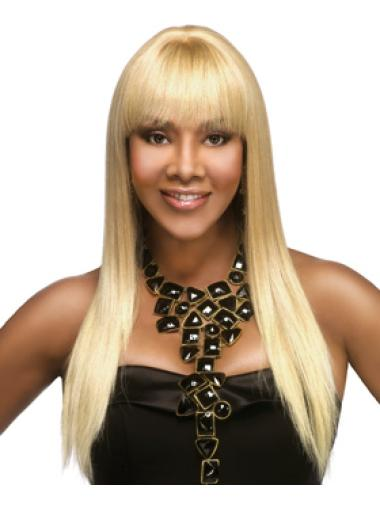 Cheapest African American Long Human Hair Wigs With Bangs