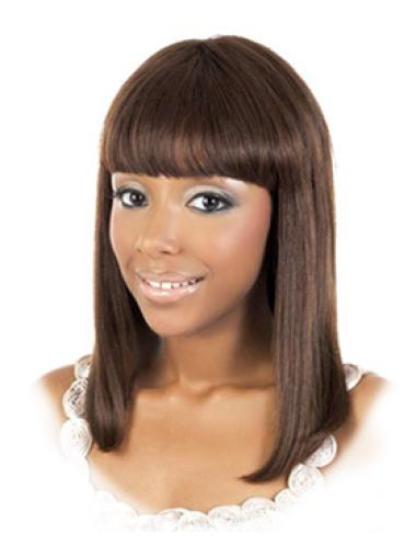 With Bangs Incredible African American Real Human Hair Wigs