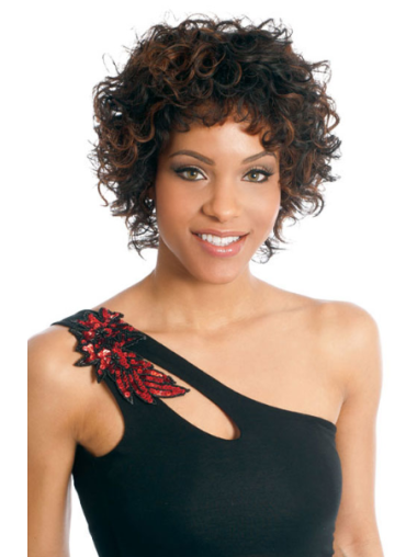 Brazilian Remy Hair Boycuts Short Curly Wigs Black Women