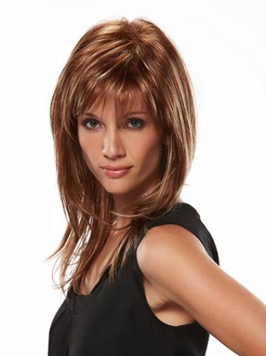 Stylish Brown Straight Synthetic Capless Long Hair Wigs