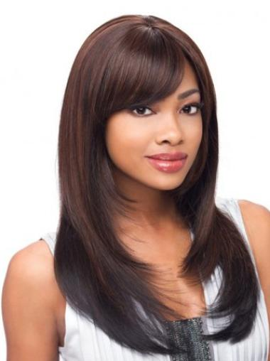 Good Lace Front Auburn Long Wigs For African American