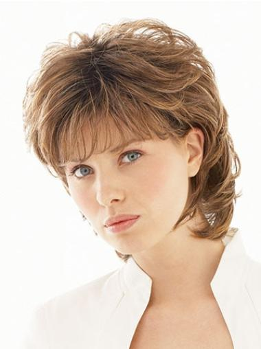 Short Wavy Layered Classic Inexpensive Synthetic Wigs
