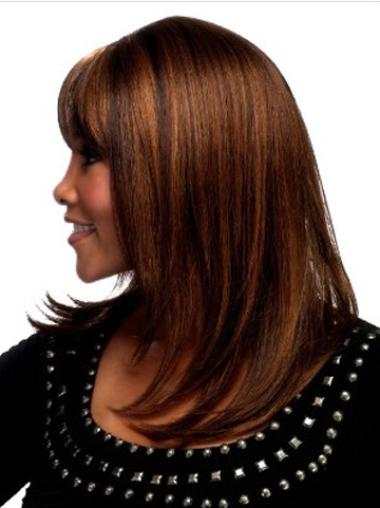 Auburn Straight Shoulder Length Capless Great Synthetic Wigs