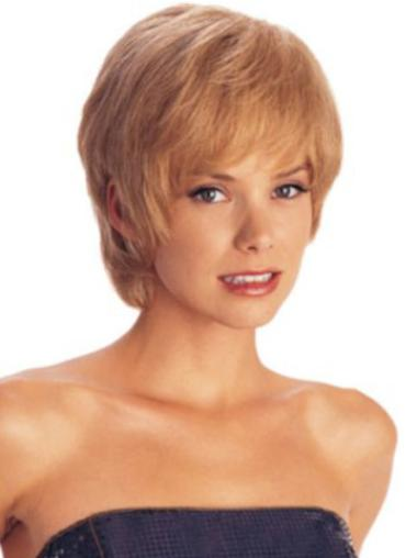 Incredible Auburn Straight Short Capless Synthetic Wigs