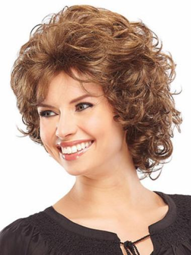 Curly Layered Auburn Durable Classic The Best Synthetic Hair Wigs