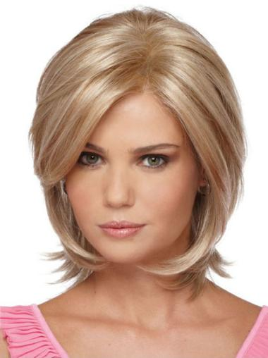 Exquisite Chin Length Straight Synthetic Blonde Bob Wigs