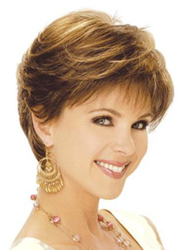 Short Brown New Classic Most Natural Synthetic Wigs