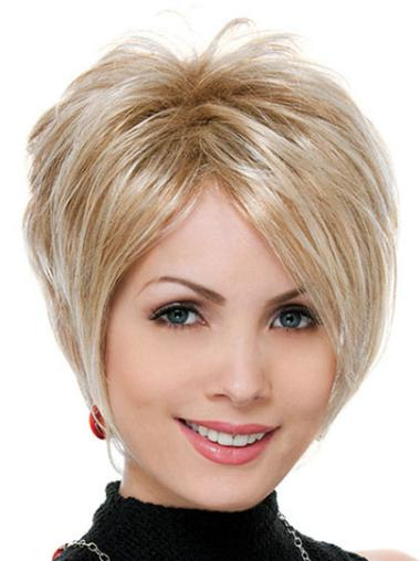 Ideal Straight Blonde Synthetic Capless Wig Short Styles