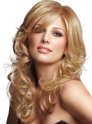 Blonde With Bangs Long Lace Front Incredible Curly Synthetic Wig