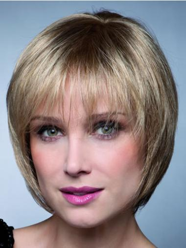 Blonde Bobs Affordable Synthetic Capless Short Wig