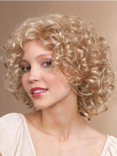 Classic Curly Capless Amazing Synthetic Blonde Wigs For Sale