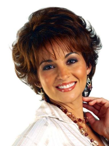Short Curly Brown Online Synthetic Wigs For African American