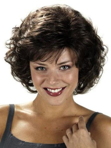 Chin Length Capless Classic Afro Curly Synthetic Wig