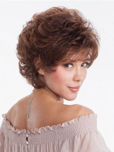 Wavy Auburn Classic Hairstyles Womens Short Synthetic Heat Resistant Wigs