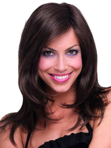 Best Brown Straight Long Capless Synthetic Wigs