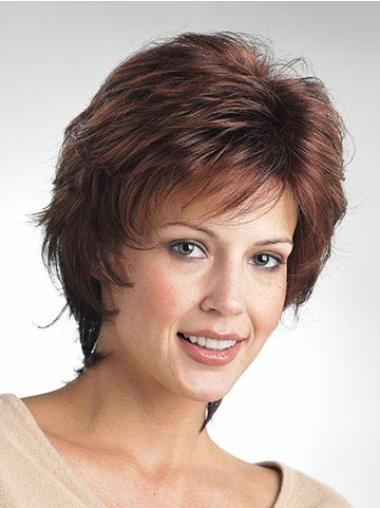 Layered Brown Modern Classic Most Realistic Synthetic Wigs