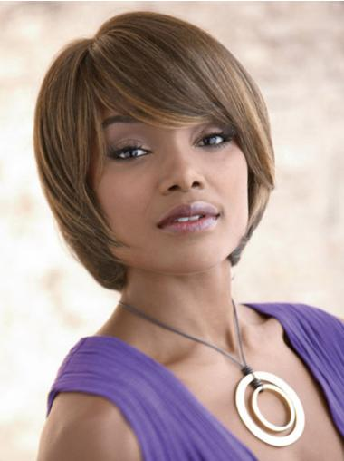 Incredible Capless Brown Blunt Bob Wig Synthetic