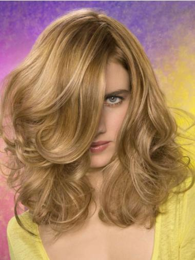 Ideal Lace Front Wavy Medium Length Synthetic Wig