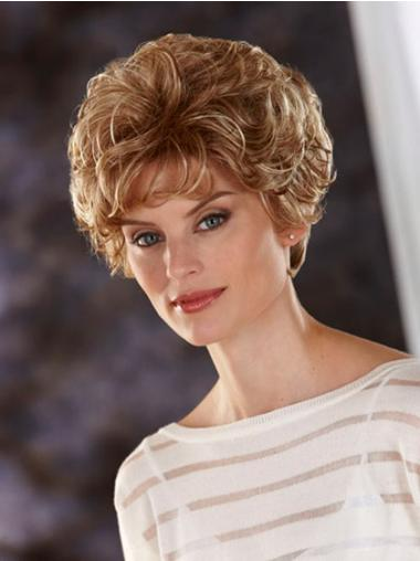 Style Lace Front Cropped High Quality Synthetic Blonde Wig