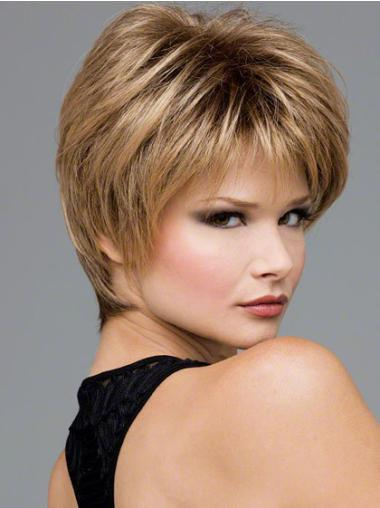 Good Wavy Short Lace Front Blonde Synthetic Wigs