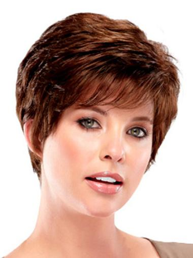Capless Wavy Cropped Realistic Synthetic Wigs