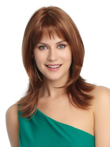 Capless Layered Shoulder Length Fabulous Petite Size Wigs