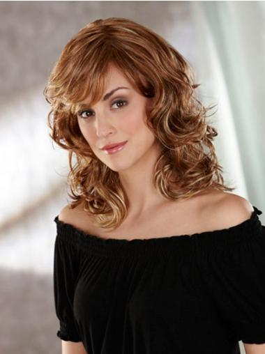 Brown Wavy Synthetic Capless 14 Inch Layered Wig
