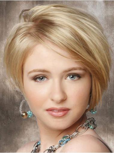 Fabulous Chin Length Without Bangs Straight Lace Front Synthetic Wig